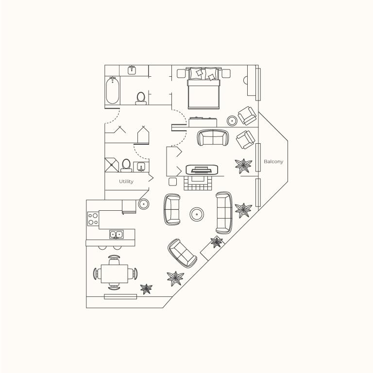 Plan A - 2 Bedrooms
