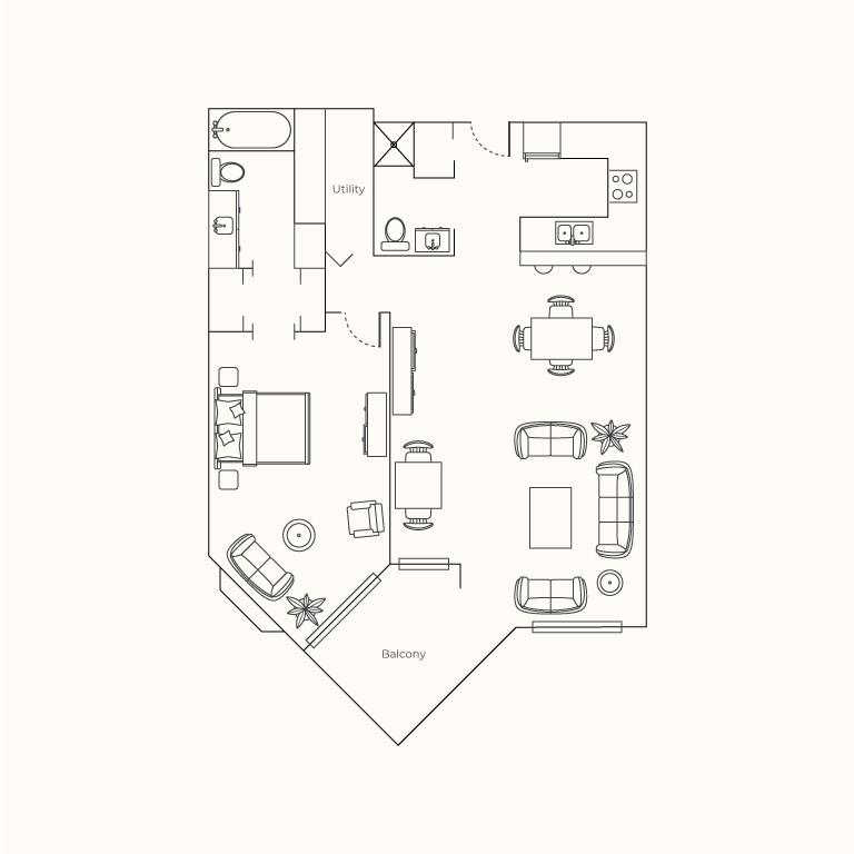 Plan C - One Bedroom